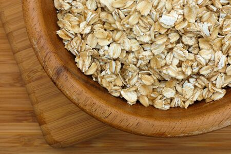 oatmeal bowl: Oatmeal in a bowl. Stock Photo