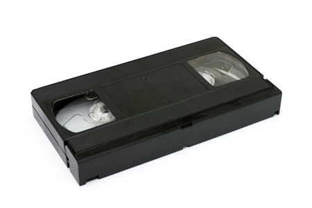 videocassette: Video tape on white background