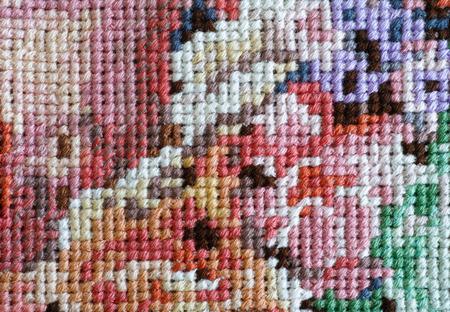 punto de cruz: Multicolor crossstitch fondo. De cerca.
