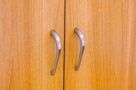 Wardrobe doors. Close-up.
