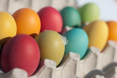 pasch: Set di uova colorate Pasqua Archivio Fotografico