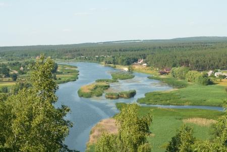 orifice: River and sky landskape Stock Photo