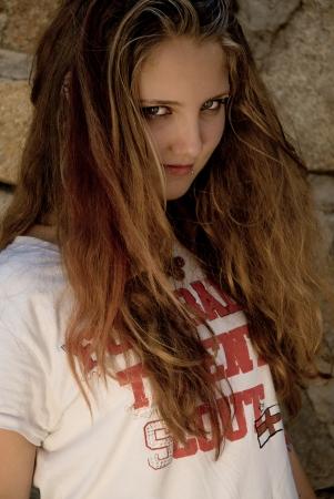 Teen girl looking naughty Stock Photo - 17198453