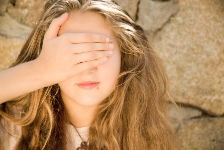Teen girl with eyes closed Stock Photo - 17198455