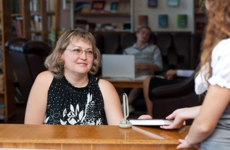 Librarian woman photo
