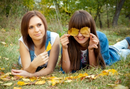 Two happy girl friends Stock Photo - 13786011