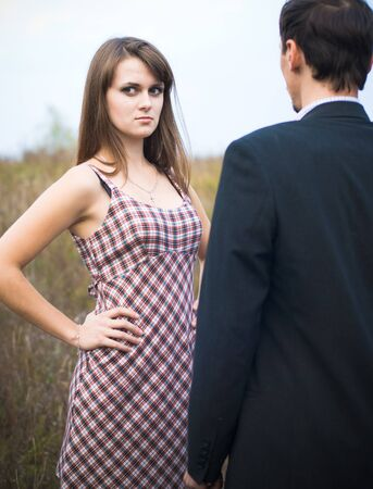 Young woman looking offended  photo