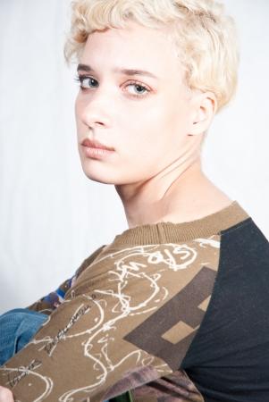 Woman studio portrait photo