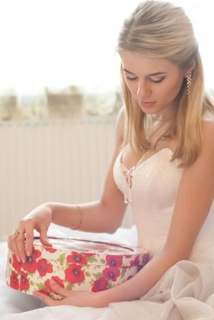 Beautiful young bride fashion studio shot Stock Photo - 18184589