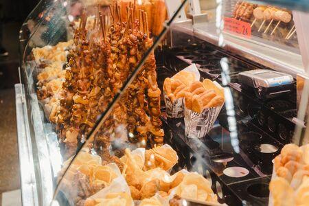 Snacks stall at the Boqueria market in Barcelona, Spain Reklamní fotografie