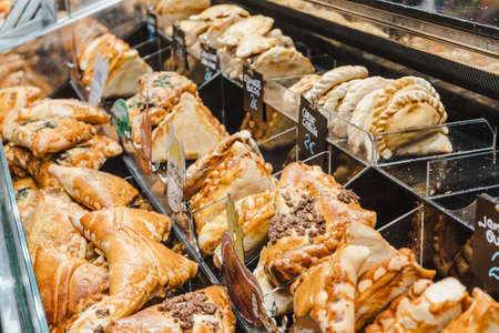 pastry and baklery bread at a fast food stall Archivio Fotografico