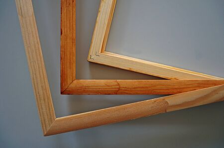 Finished wooden frames for paintings. Fine woodworking. Large space for writing