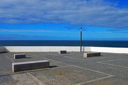 The square on the Atlantic coast in the city of Zambujeira du Mar in Portugal