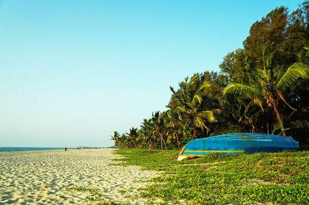 Sandy Marari beach near the city Kochi of Kerala, India