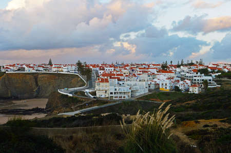 View from the hill on the city of Zambujeira du Mar. Natural Park Southwest Alentejano and Vicentine Coast, Portugal