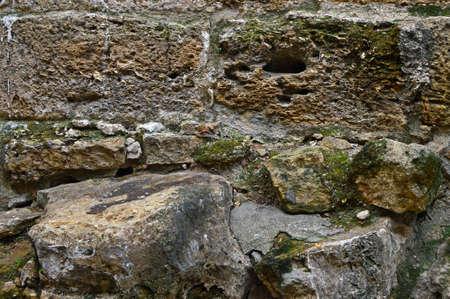Visigoth wall near Portas do Sol miradouro. Norberto de Araujo street, Lisbon City Walls, Portugal