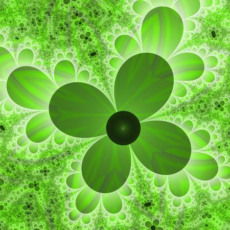 four leaf: Fractal resembling four leaf clover