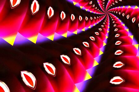 digital image: Digital image in dark pink and yellow spiral effect