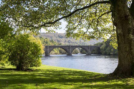 tay: Thomas Telford Bridge over the River Tay in Dunkeld, Perthshire, Scotland Stock Photo