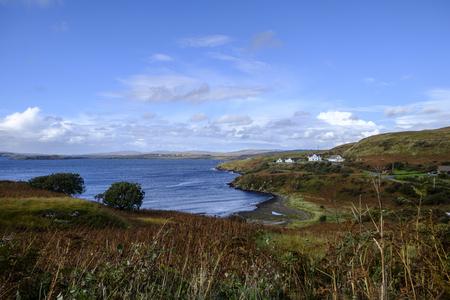 inlet bay: Beautiful remote coastal scenery of Fiskavaig Bay on Isle of Skye Scotland