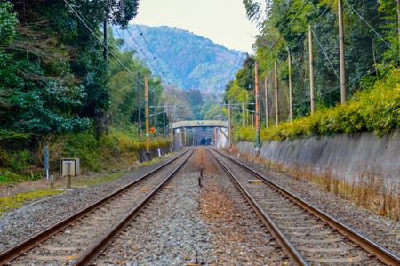 inter: Railway to destination, Kyoto, Japan.