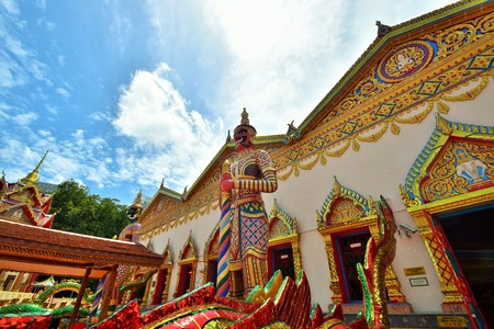 Wat  Chaiya Mangkalaram is a Thai Buddhist temple in George Town, Penang, Malaysia was built in 1845 most notable for its Reclining Buddha statue. Editorial