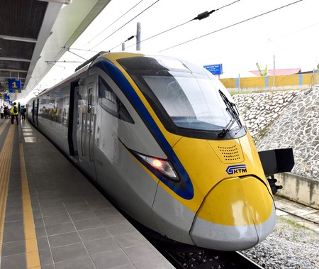ETS Train  inter- city rail service in Malaysia.