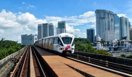 Rapid KL - Light Rail Train in Kuala Lumpur, Malaysia.