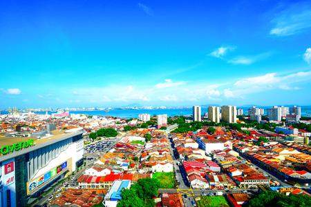 Panaromic view of Penang island. Malaysia