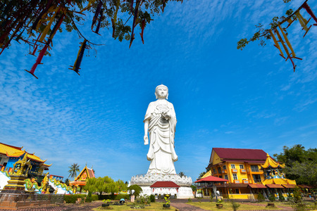 00-foot tall statue of a standing Buddha at Phothikyan Phutthaktham temple Bachok kelantan Malaysia. Photo was taken 10 22018 Editorial
