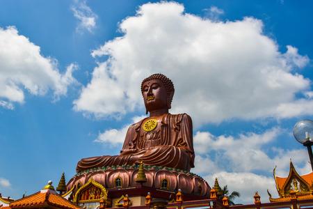Largest Sitting Buddha at Wat Machimmaram Tumpat Kelantan Malaysia. Photo was taken 10 22018