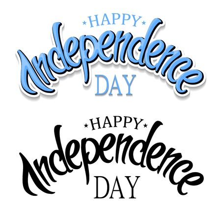 stated: United Stated independence day greeting. typographic design