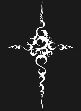 Arte cruzado cristiano de diseño vectorial Ilustración de vector