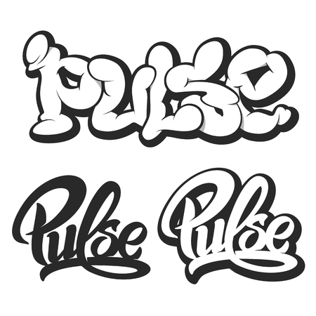 pulse: Pulse vector icons silhouette set.