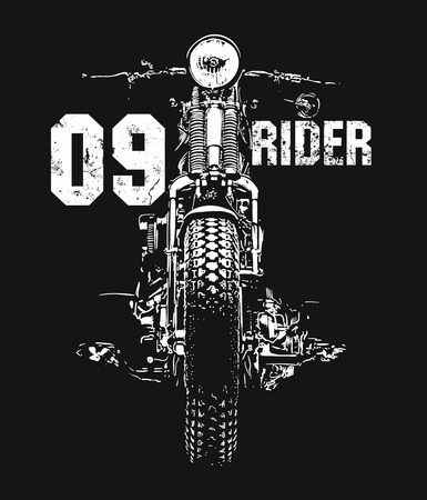 Vintage Motorcycle hand drawn vector t-shirt design