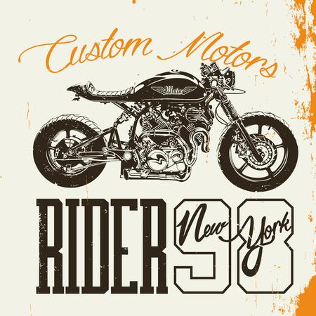 rider: Motorcycle Rider T-shirt Design rider