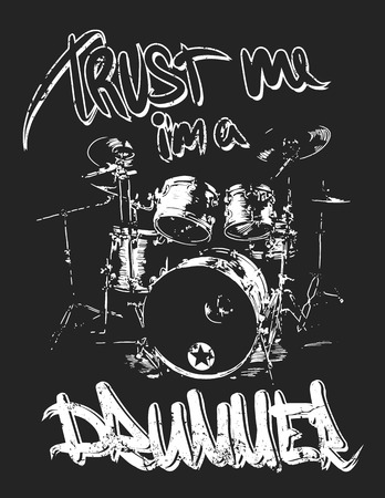 harmonist: Graphics for Apparel, drummer t-shirt design.