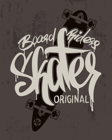 Skate board lettering, t-shirt graphics design.