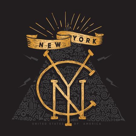 New York t shirt apparel fashion print tee graphics Custom type design Hand drawn typographic
