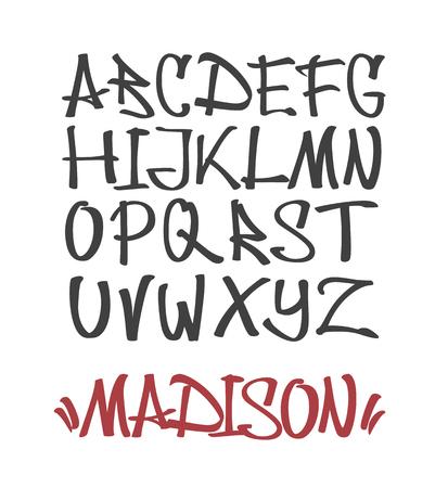 Alfabet in graffiti lettertype Marker Graffiti Font