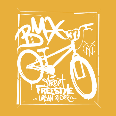 BMX t-shirt Graphics. Extreme bike street style.