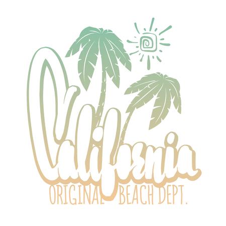 California typography for t-shirt print , vector illustration