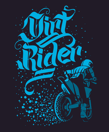 Drirt rider Motocross Freestyle design for apparel Vectores