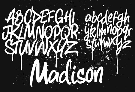 Marker Graffiti Font set template