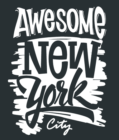 Awesome New York City typography, t-shirt print design.