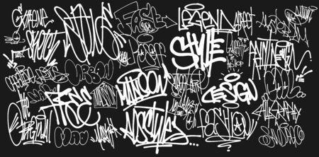 Taging on wall. Beautiful street art of graffiti.