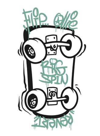 Skate board typography, t-shirt graphics, vectors design