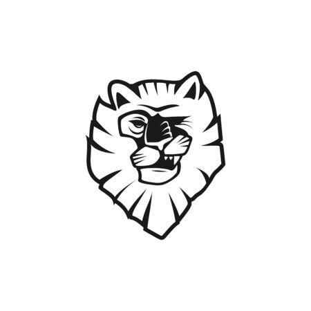 Wild Lion Vector illustration Icon Logo Template