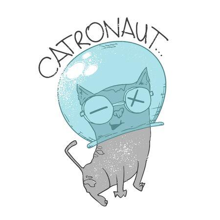 Space cat astronaut. Catronaut. print, t-shirt design