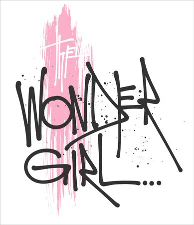 The wonder girl typography for print t shirt